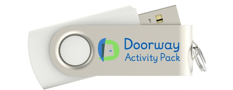 The Doorway Activity Pack, now on USB pendrive.